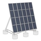 Cartoon image of solar panel — Stock Photo