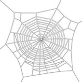 Cartoon image of spider web — Stock Photo
