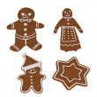Realistic 3d render of gingerbreads — Stock Photo #40068035
