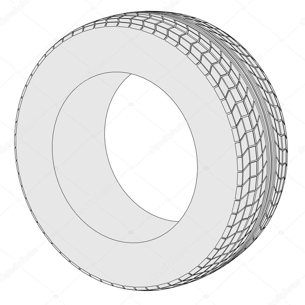 汽车轮胎的卡通形象