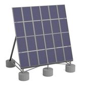 Realistic 3d render of solar panel — Stock Photo