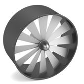 Realistic 3d render of large fan — Stock Photo