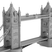 Realistic 3d render of tower bridge model — Stock Photo