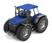 Realistic 3d render of tractor — Stock Photo
