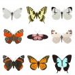 Stock Photo: Realistic 3d render of butterflies
