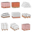 Stock Photo: Cartoon image of construction materials