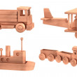 Realistic 3d render of wooden toys — Stock Photo #42457337