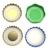 Realistic 3d render of bottle lids — Stock Photo