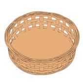 Cartoon image of fruit basket — Stock Photo