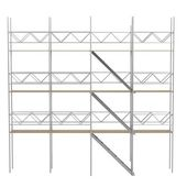 Realistic 3d render of scaffolings — Stock Photo