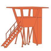 Cartoon image of lifeguard cabin — Stock Photo