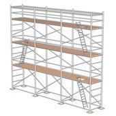 Cartoon illustration of construction scaffolding — Stock Photo