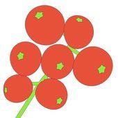 Cartoon illustration of rowan berry — Stock Photo