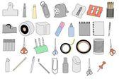 Caricatura de herramientas de efectos de escritorio — Foto de Stock