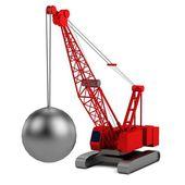 Realistic 3d render of destruction crane — ストック写真