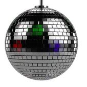 Realistic 3d render of discoball — Stock Photo