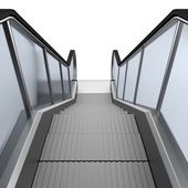 Realistic 3d render of escalator — Stock Photo