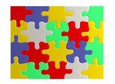 Реалистичные 3d визуализации головоломки — Стоковое фото