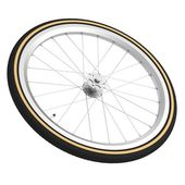 Realistic 3d render of bicycle wheel — Stok fotoğraf