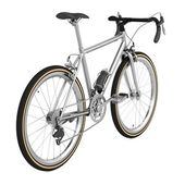 Realistic 3d render of racing bicycle — Stock Photo
