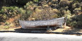 Photo of old rotten boat — Stock Photo