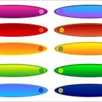 Rainbow button — Stock Photo #10933930