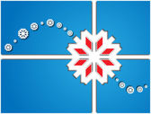 Card with white snowflakes — Stock Photo