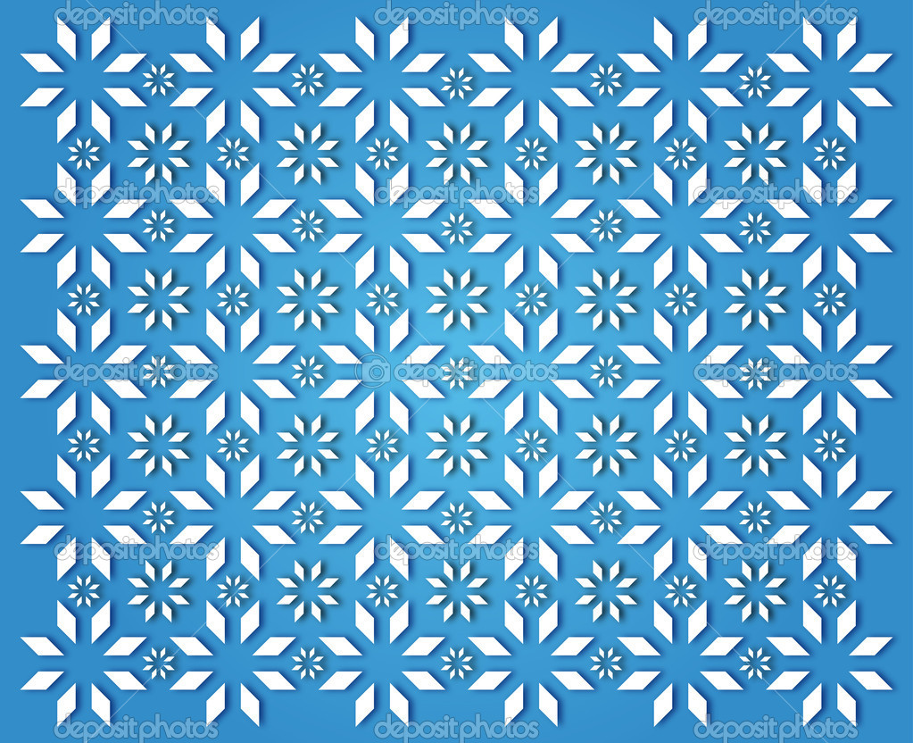 Wallpaper simple white snowflakes on light blue background — Stock Photo #15402647