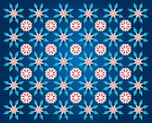 Darkblue snowflake background — Stock Photo