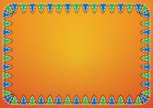 Trees on orange background — Stock Photo