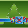 Christmas icons with tree in the background — Stock Photo #16506913
