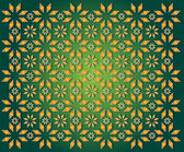 Green background of golden Christmas Star — Stock Photo