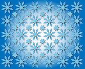 Kar taneleri şeklinde yıldız — Stok fotoğraf