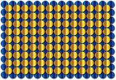 Hintergrund von gold und blau-räder — Stockfoto