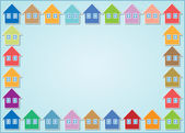 Houses frame — Stock Photo