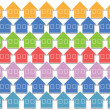 Pastel color houses - Stock Photo