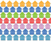 Pastel color houses — Stock Photo