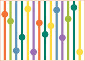 Spring background with straws balls — Stock Photo