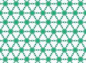 Green flowers hexagonal — Stock Photo