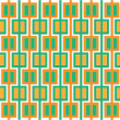 Stock Photo: Abstract pattern of orange and green squares