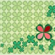 Background four leaf clovers — Stock Photo