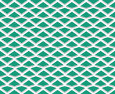 Regularly spaced polygons of emerald green — Stock Photo