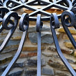 Forged iron metal pattern — Stock Photo