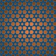 Stock Photo: Pattern blue and orange gear wheels