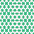 Contour Floral green background — Stock Photo