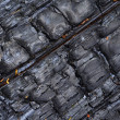 Stock Photo: Charred wood