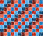 Achtergrond pleinen blauw rood borduurwerk — Stockfoto