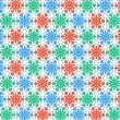 Christmas snowflakes color — Stock Photo