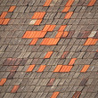 Old tiled roofs chapped — Stock Photo