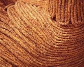 Brown braided straw — Stock Photo